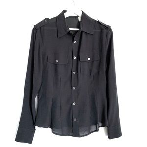 Equipment Vintage Silk Shirt Size M